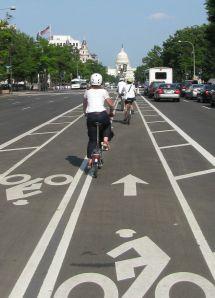 Richmond visitors enjoy the innovative 2-way buffered bike lane on Pennsylvania Avenue.