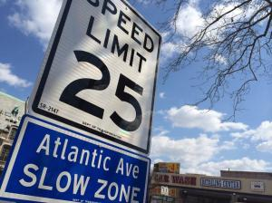 New speed limit on Atlantic Avenue in New York City.  Image from Streetsblog.