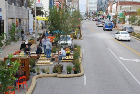 Better Block Project in Kansas City.  From streetsblog.org.